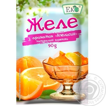 Eko orange for desserts jelly 90g - buy, prices for CityMarket - photo 1