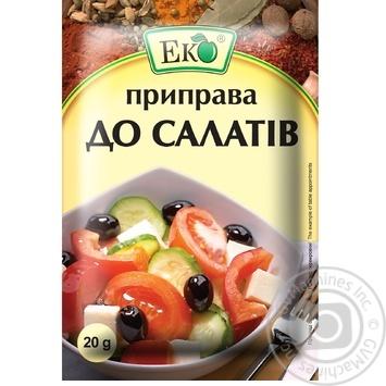 Приправа Эко для салатов 20г - купить, цены на Novus - фото 1
