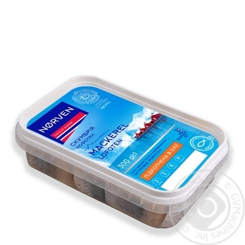 Norven smoked mackerel pieces in oil of 300g - buy, prices for Tavria V - image 1