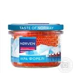 Икра лососевая Norven форели зернистая 210г