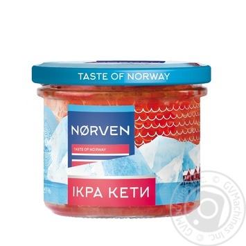 Икра лососевая Norven кеты зернистая 110г - купить, цены на Восторг - фото 1