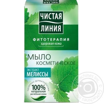 Мыло косметическое ЧИСТАЯ ЛИНИЯ Экстракт мелиссы 80г