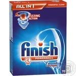 Средство Finish all in 1 для мытья посуды в посудомоечных машинах в таблетках 70шт Германия