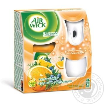Спрей Air Wick Freshmatic автоматический Анти-табак Апельсин и бергамот Россия