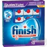 Средство Finish Quantum для мытья посуды в посудомоечных машинах в таблетках 10шт Польша