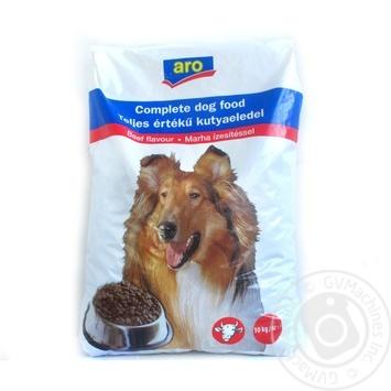 Корм Aro сухой с говядиной для собак 10000г