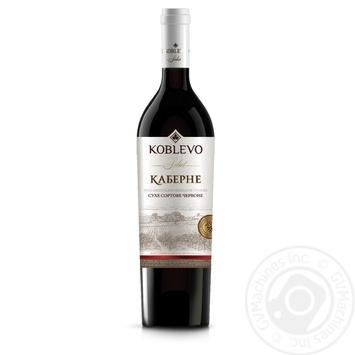 Вино красное Коблево Селект Каберне виноградное ординарное столовое сортовое сухое 13% 750мл
