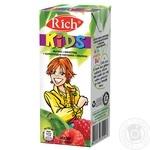 Apple-grape-chokeberry-raspberry nectar Rich Kids for children tetra pak 200ml