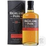 Whiskey Highland park single malt 43% 18yrs 700ml in a box Scotland England