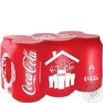 Strongly sparkling nonalcoholic drink Coca-Cola cluster pack 6х330ml