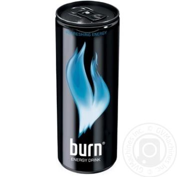 Энергетический напиток Burn Освежающий заряд безалкогольный 250мл