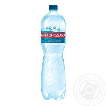 Минеральная вода Миргородская природная сильногазированная 1,5л