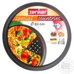 Форма для пиццы Fackelmann Zenker перфорированная с тефлоновым покрытием d32см
