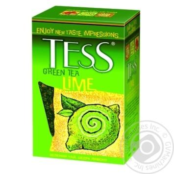 Зеленый чай Тесс Лайм байховый с цедрой лимона лепестками цветов и ароматом лайма 100г Украина