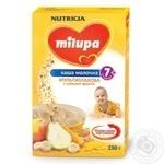 Каша дитяча Нутриція Мілупа молочна мультизлакова з фруктими від 7 місяців 230г Польща