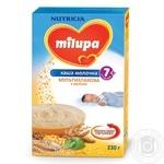 Каша дитяча Мілупа молочна мультизлакова з мелісою від 7 місяців 230г Польща