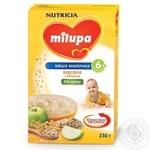 Каша молочна суха швидкорозчинна Milupa вівсяна з яблуком 230г