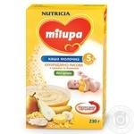 Каша молочна Milupa кукурудзяно-рисова з грушею та бананом 230г