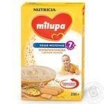 Каша дитяча Нутриція Мілупа молочна мультизлакова з дитячим печивом з 7 місяців 230г