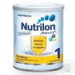Суміш молочна Нутриція Нутрилон 1 Комфорт суха зменшує кольки та запори для дітей з народження до 6 місяців залізна банка 400г Нідерланди