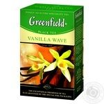 Black pekoe tea Greenfield Vanilla Wave with spices apricot pieces and vanilla flavor 100g Ukraine