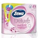 Туалетная бумага Zewa Deluxe Aqua Tube Royal Orchid 3 слоя 4шт