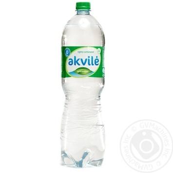 Вода натуральна мінеральна слабогазована Akvile пет 1,5 - купить, цены на Novus - фото 1