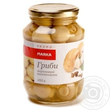 Mushrooms cup mushrooms Marka promo pickled 450g glass jar - buy, prices for Novus - image 1