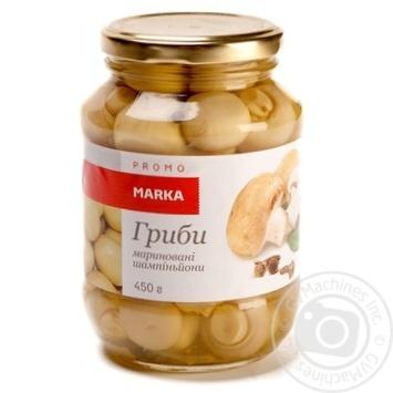 Гриби мариновані шампіньйони Marka Promo 450г - купить, цены на Novus - фото 1