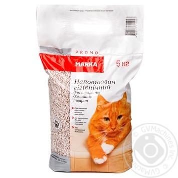 Наповнювач гігієнічний для туалетів домашніх тварин Marka Promo 5кг - купить, цены на Novus - фото 1
