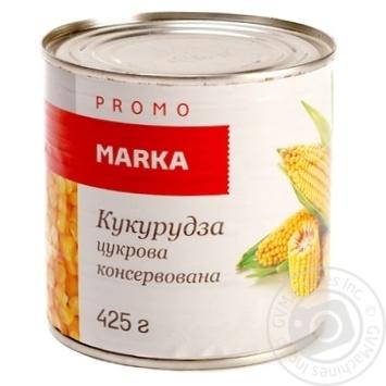 Кукурудза цукрова консервована з цілих зерен Marka Promo банка жестяна420г - купити, ціни на Novus - фото 1