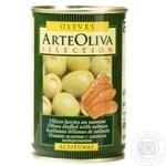 Оливки зеленые Arte Oliva с лососем 300г - купить, цены на Novus - фото 1