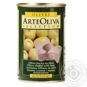Оливки Arte Oliva фаршировані Тунець 300г - купить, цены на Novus - фото 1