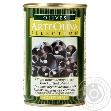 olive Arte oliva Private import black pitted 300g can - buy, prices for Novus - image 1
