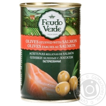 Feudo Verde With Salmon Green Olives 300g - buy, prices for Novus - image 1