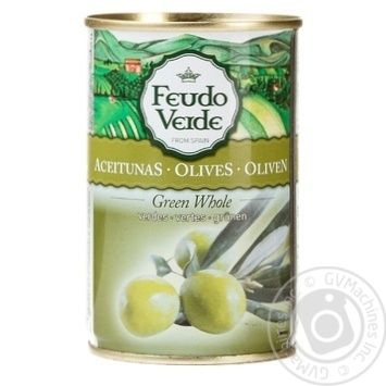 Feudo Verde Whole Green Olives 300g - buy, prices for Novus - image 1