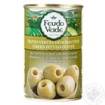 Оливки без кісточки консервовані пастеризовані Feudo Verde 300г - купити, ціни на Novus - фото 1