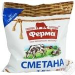 Сметана Ферма охлажденная 15% 400г Украина