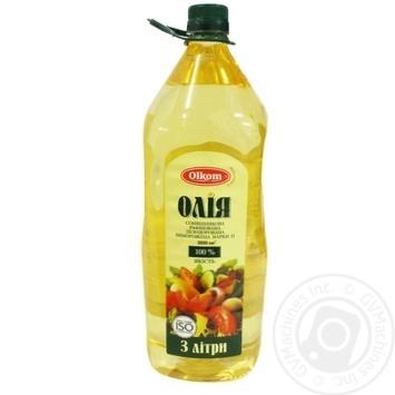 Oil Olkom sunflower refined 3000ml Ukraine