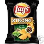 Чипсы Lay's Strong картофельные рифленые Адский васаби со вкусом васаби 62г Украина