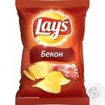 Chips Lay's potato with bacon 35g packaged