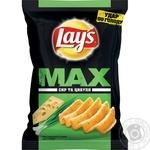 Чіпси Lays's Max сир і цибуля 100г
