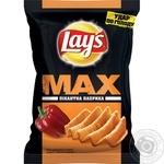 Чіпси Lays's Max пікантна паприка 100г