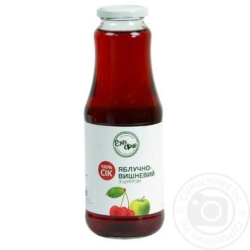 Сок Эко-фуд яблоко яблоко-вишня 1000мл стеклянная бутылка