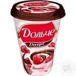 Десерт 4% President Вишня шоколадна глазур 400г