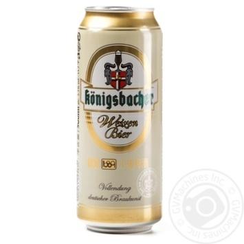 Пиво Konigsbacher Weizen светлое ж/б 5,1% 0,5л