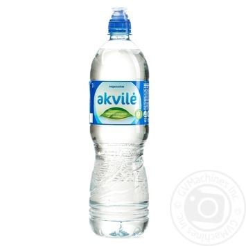 Вода мінеральна природна столова натуральна негазована Akvile 1л