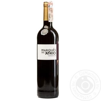 Вино Marques del Atrio Tempranillo красное сухое 13% 0,75л