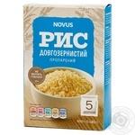 Рис Novus длиннозерный пропаренный в пакетиках 5*80г