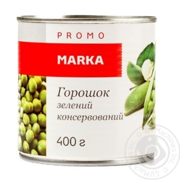 Горошок зеленый Marka Promo консервованный 400г - купить, цены на Novus - фото 1